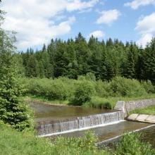 Widok na rzekę Wisła w Wiśle