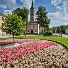 Kościół ewangielicko - Augsburski w centrum Wisły